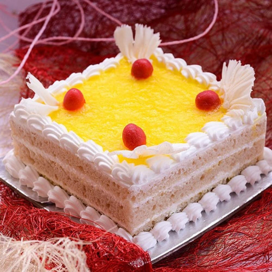 Pineapple Squash Fusion Cake - for Flower Delivery in India