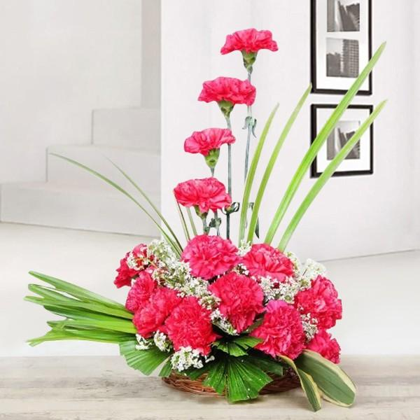 Pink Classic Basket - from Best Flower Delivery in India