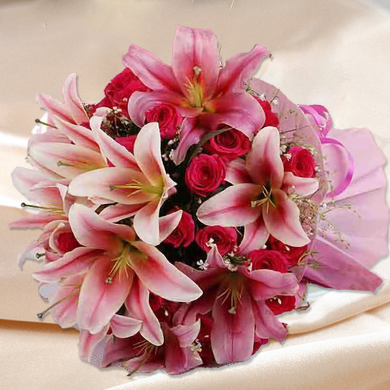 Pink Garden Love - for Online Flower Delivery In India