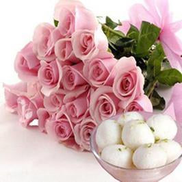 Pink n Sweet - for Midnight Flower Delivery in India