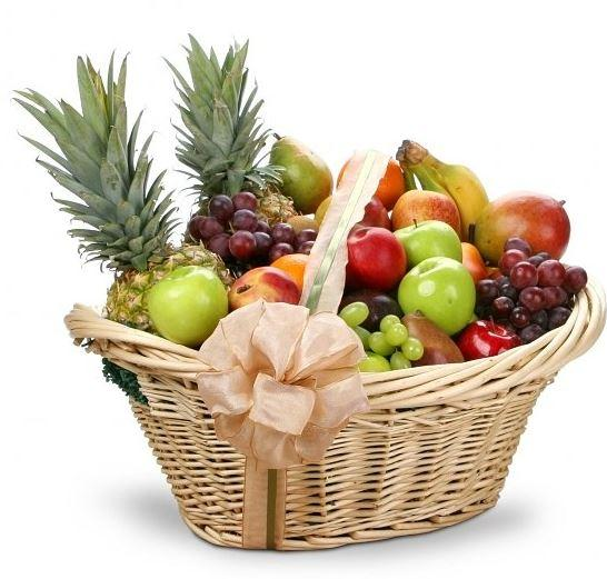 Premium Basket Of Fruit - for Flower Delivery in India
