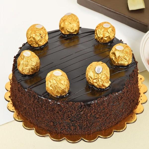 Premium Ferrero Rocher Cake - for Midnight Flower Delivery in India