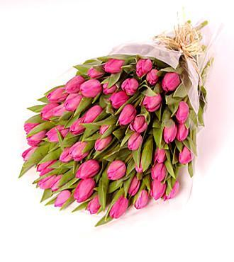 Premium Tulips Bouquet - for Midnight Flower Delivery in India