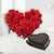 Pure Choco Love- - Send Flowers to India - This beautiful combo consists of: 30 Red Roses heart shape arrangement Half kg heart shape chocolate cake