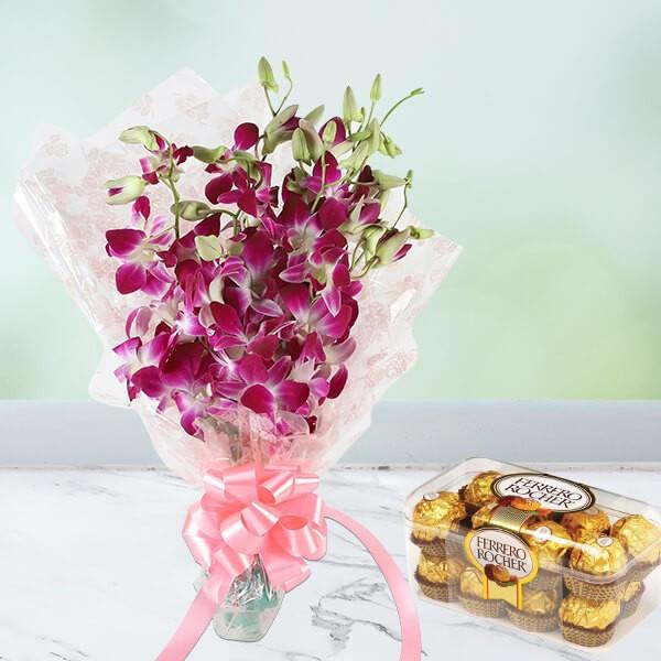 Purple Rocher Mist - for Flower Delivery in India