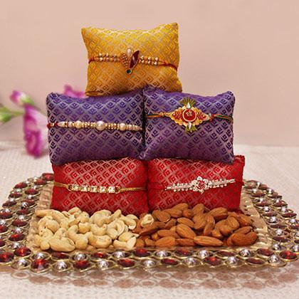 Rakhi with Almonds and Cashew - from Best Flower Delivery in Rakhi