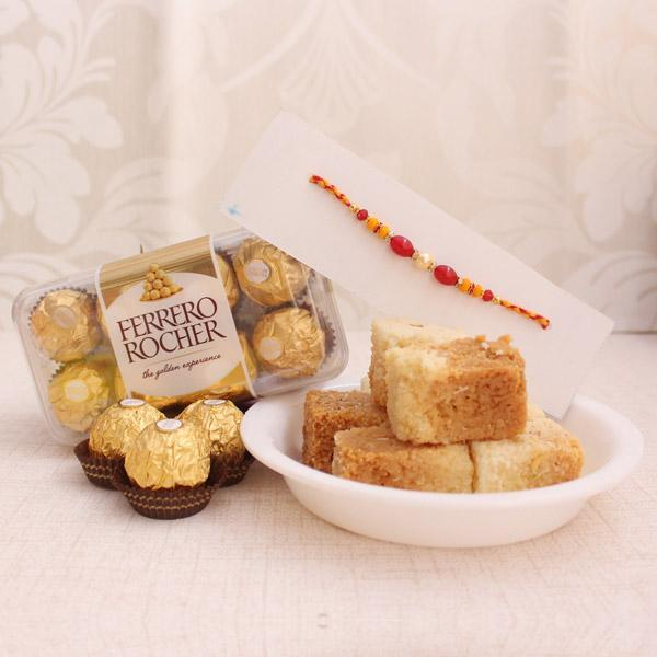 Rakhi Happiness Hamper - for Midnight Flower Delivery in India