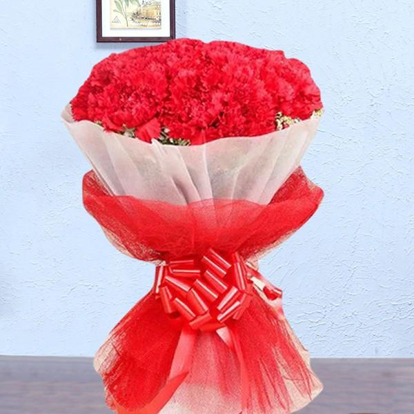 Red Carnation Fantasy - for Online Flower Delivery In India