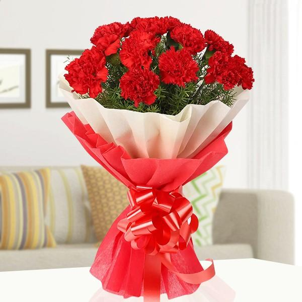 Red Carnival - for Midnight Flower Delivery in India