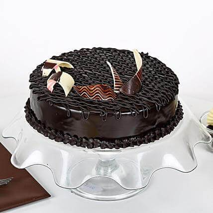 Rich Truffle Gateaux - Send Flowers to Main | Cakes