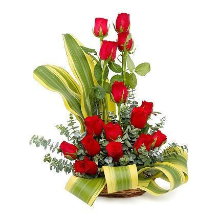 Red Beauty- Red Rose Hand Bouquet - for Flower Delivery in India