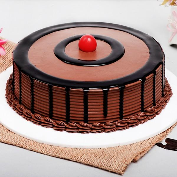 Royal Chocolate Cherry Cake - for Midnight Flower Delivery in India