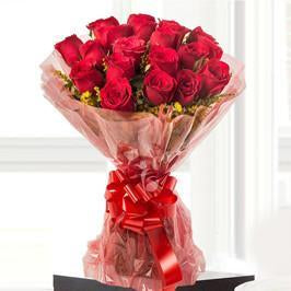 Sexy Red- Bunch Of Red Flowers - Send Flowers to India