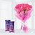 Silky Love Surprise- Best Gift Delivery in Occasion Gifts New Year - This beautiful combo consists of: 12 pink carnations wrapped in pink cellophane paper White ribbon bow 2 Dairy Milk Silk chocolates