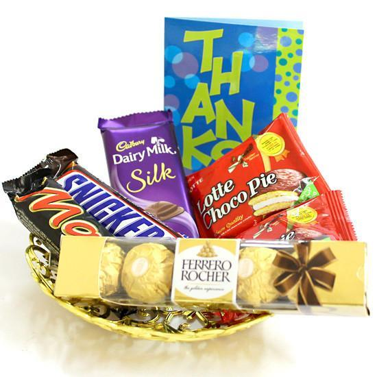 Small Rocher Basket - from Best Flower Delivery in Chocolate Hampers