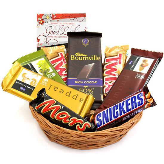 Snickers Love Choco Hamper - for Online Flower Delivery In Chocolate Hampers