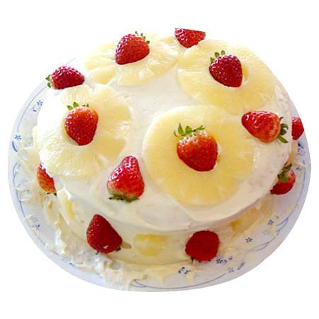 Special Pineapple Cake - for Midnight Flower Delivery in India