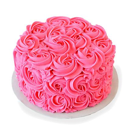 Strawberry Rose Cake - Send Flowers to India