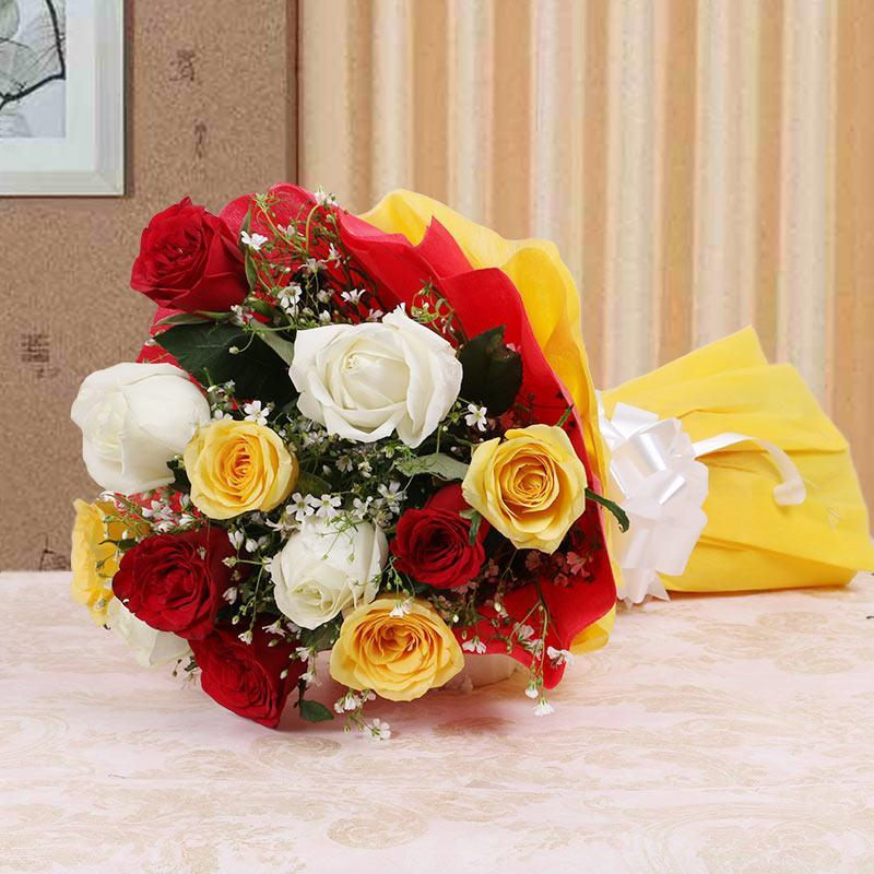 Stunning Mix Roses - for Flower Delivery in India