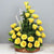 Sunrise Sweet Treat-a basket of yellow roses- - for Midnight Flower Delivery in India -Product Details: 25 Yellow Roses Cane Basket Seasonal Fillers The 25 flowers are in a basket making them a present that can be placed in your home. The roses are fresh with a deep sweet odor. The basket can be used for many purposes later. The whole thing can be given as a surprise present to add to the joy of your loved ones. While we always strive to ensure that products are accurately represented in our photographs, from season to season and subject to availability, our florists may be required to substitute one or more flowers for a variety of equal or greater quality, appearance and value.