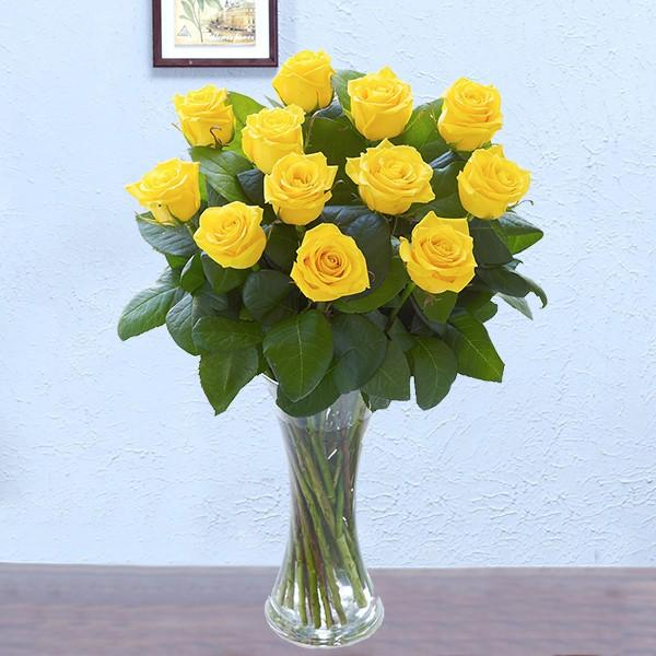 Sunshine Beauty-a bouquet of yellow roses - for Online Flower Delivery In India