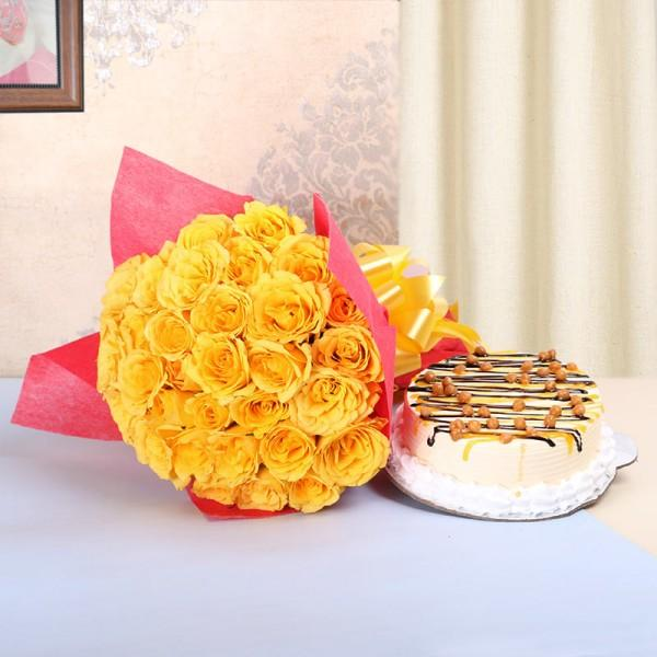 Sunshine Delight Combo - for Midnight Flower Delivery in India