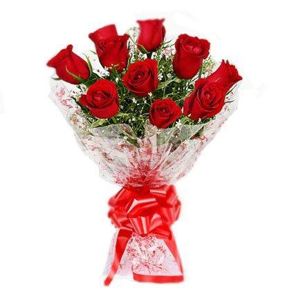 Tiny Red Roses Bunch - Send Flowers to India