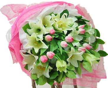 Tulips and Lilies - for Midnight Flower Delivery in India