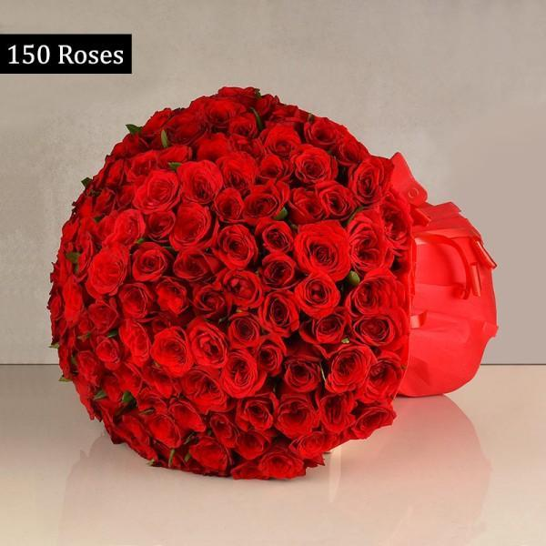 150 Red Rose Bouquet For Valentine's Day - Send Flowers to Occasion Flowers Valentine Flowers
