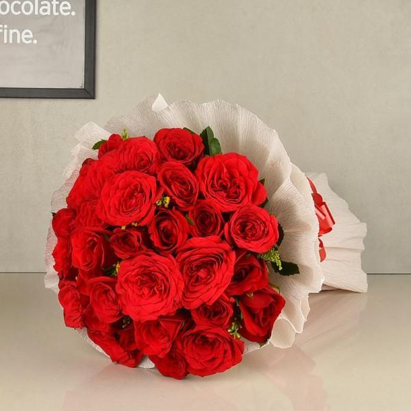 Valentines Bouquet Of 18 Red Roses - from Best Flower Delivery in Category | Flowers | Anniversary Flowers