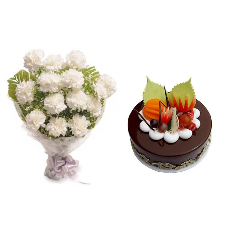 Pure Carnations Combo - for Online Flower Delivery In Main | Gifts