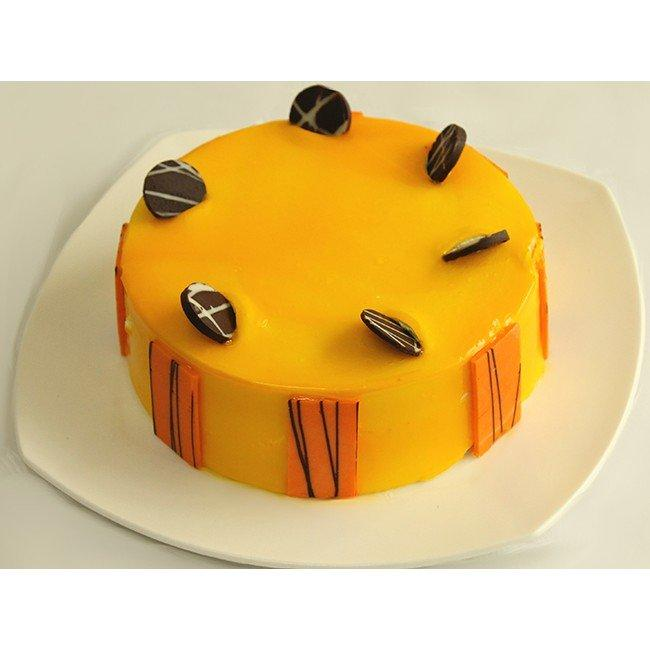 Yummy Mango Cake - for Online Flower Delivery In Category | Cakes | Anniversary Cakes