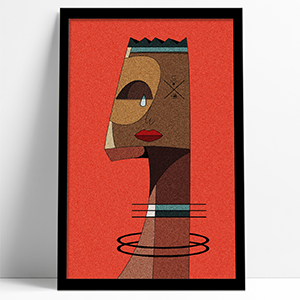 Abstract Man 2 Framed Print