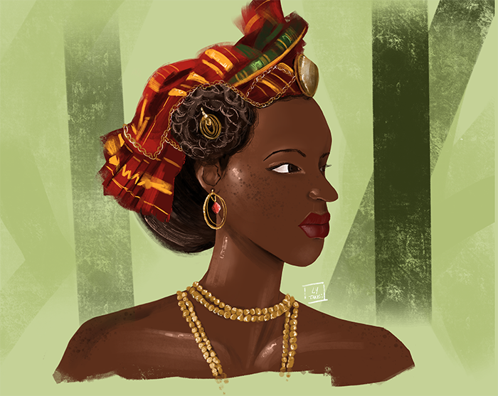 Caribbean Woman by Ly Tangi