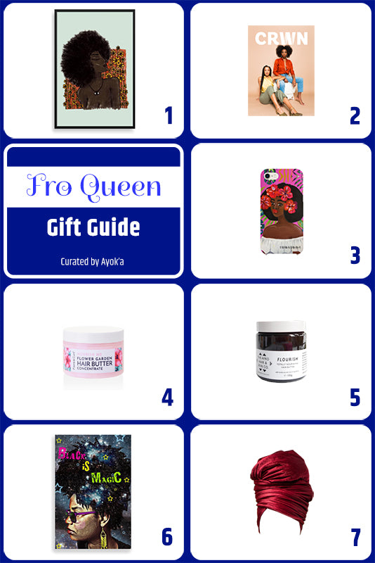 Fro Queen Gift Guide curated by Ayok'a