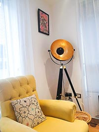 Lamp in Tokunbo's living-room