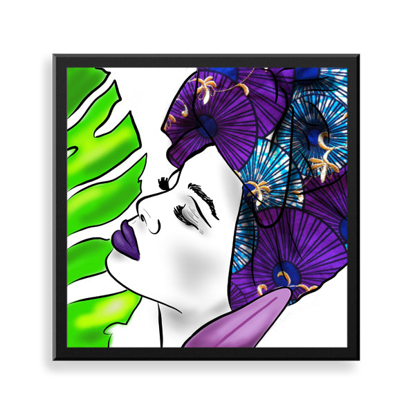 untitled 5 framed print by african artist neema