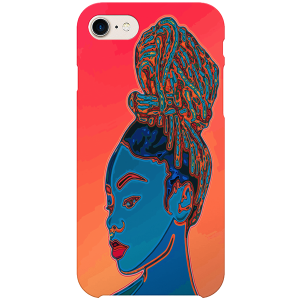 9 visions iPhone case by african ilustrator artista amarela