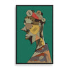 abstract man 1 framed print by nigerian artist TEDA