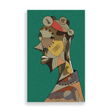 abstract man 1 art print by nigerian artist teda