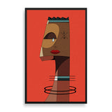 abstract man 2 framed print by nigerian artist TEDA