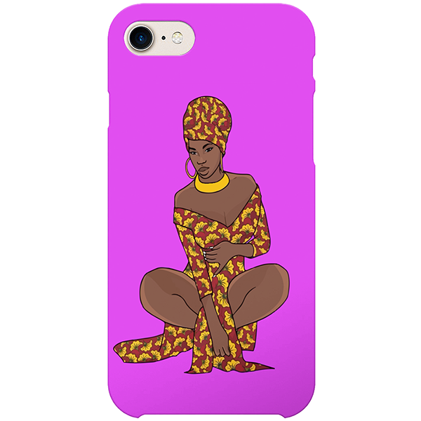 african 2 iPhone by african illustrator artista amarela