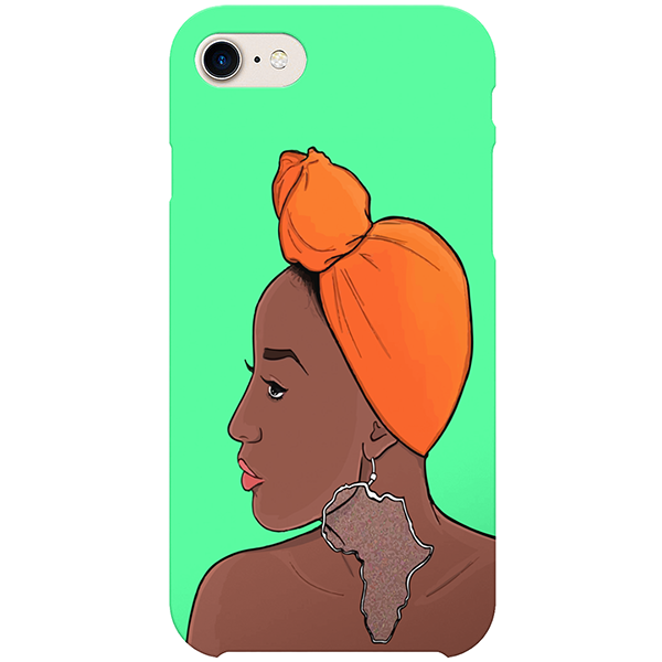 africanaise iPhone by african illustrator artista amarela