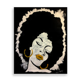 afro lady art print by nigerian artist tunde omotoye