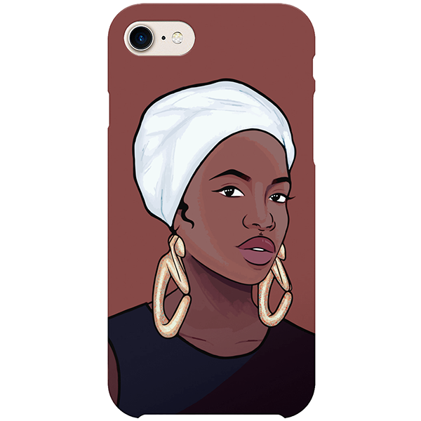 angolan iPhone case by african illustrator artista amarela