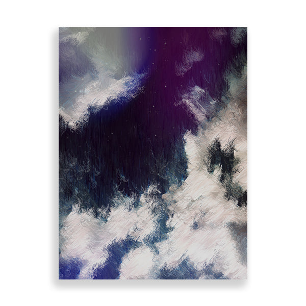 azure clouds art print by the reclusive blogger