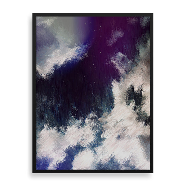 azure clouds framed print by african-american artist the reclusive blogger