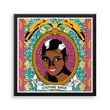 josephine baker framed print by black-british natasha lisa