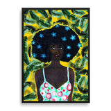 banana hues framed print by black-british artist rahana banana