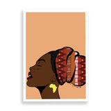 basking in the light art print by black-british artist nyanza d